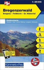 01 Bregenzerwald laminowana mapa turystyczna 1:35 000 KUMMERLY + FREY