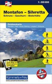 02 Montafon - Silvretta laminowana mapa turystyczna 1:35 000 KUMMERLY + FREY