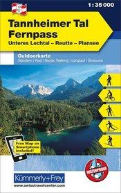 05 Tannheimer Tal - Fernpass laminowana mapa turystyczna 1:35 000 KUMMERLY + FREY
