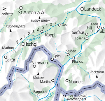 05 Tannheimer Tal - Fernpass laminowana mapa turystyczna 1:35 000 KUMMERLY + FREY (3)