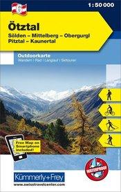 06 Otztal laminowana mapa turystyczna 1:35 000 KUMMERLY + FREY