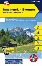 07 Innsbruck - Brenner laminowana mapa turystyczna 1:35 000 KUMMERLY + FREY