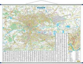 KRAKÓW ścienny plan miasta 1:20 500 COMPASS 2020