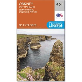ORKANY East Mainland mapa 1:25 000 ORDNANCE SURVEY