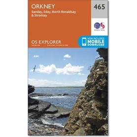 ORKANY Sanday / Eday mapa 1:25 000 ORDNANCE SURVEY