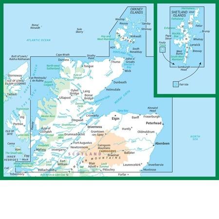 SZKOCJA SZETLANDY ORKANY mapa 1:250 000 ORDNANCE SURVEY 2020 (2)