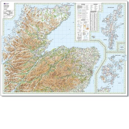 SZKOCJA SZETLANDY ORKANY mapa 1:250 000 ORDNANCE SURVEY 2020 (5)