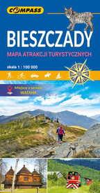BIESZCZADY mapa atrakcji turystycznych 1:100 000 COMPASS 2020