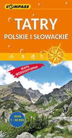 TATRY POLSKIE I SŁOWACKIE laminowana mapa turystyczna 1:50 000 COMPASS 2019