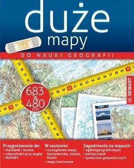 DUŻE MAPY Zestaw map do nauki geografii DEMART 2020