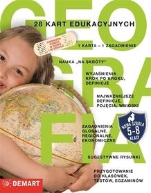 GEOGRAFIA. 28 kart edukacyjnych. Klasy 5-8 DEMART
