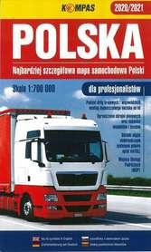 POLSKA 2020/2021 mapa samochodowa DLA PROFESJONALISTÓW 1:700 000 KOMPASS PWN