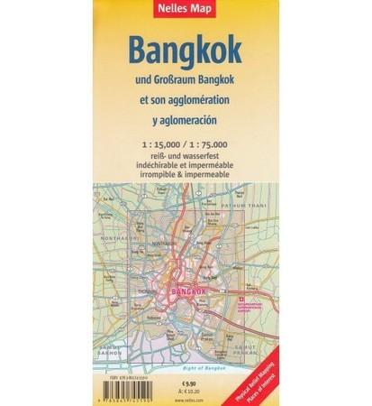 BANGKOK wodoodporny plan miasta 1:15 000 / 1:75 000 NELLES 2020 (2)