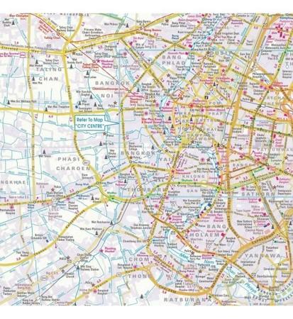 BANGKOK wodoodporny plan miasta 1:15 000 / 1:75 000 NELLES 2020 (3)
