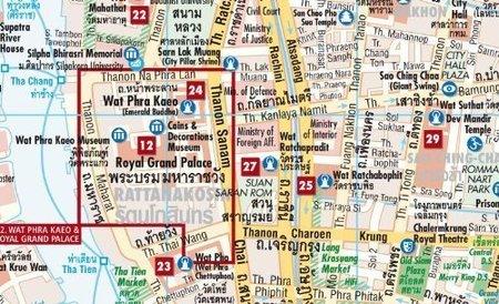 BANGKOK plan miasta laminowany 1:14 000 BORCH 2019 (2)