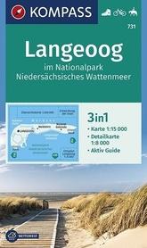 LANGEOOG WK731 mapa turystyczna KOMPASS
