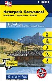 08 Naturpark Karwendel laminowana mapa turystyczna 1:35 000 KUMMERLY + FREY