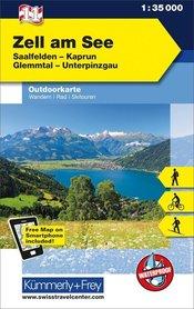 11 Zell am See laminowana mapa turystyczna 1:35 000 KUMMERLY + FREY