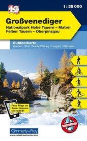 12 Grossvenediger mapa turystyczna 1:35 000 KUMMERLY + FREY