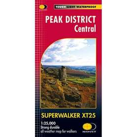 PEAK DISTRICT CENTRAL mapa wodoodporna 1:25 000 HARVEY