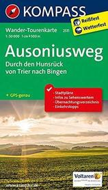 AUSONIUSWEG durch den Hunsrück von Trier nach Bingen 1:50 000 WK2511 mapa turystyczna KOMPASS
