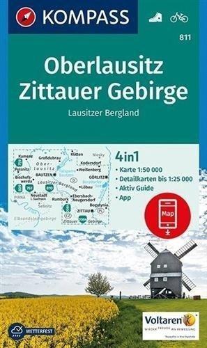 GÓRNE ŁUŻYCE / GÓRY ŻYTAWSKIE 811 wodoodporna mapa turystyczna 1:50 000 KOMPASS 2020 (1)