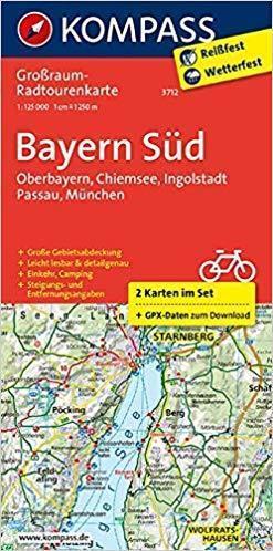 BAWARIA POŁUDNIOWA 1:125 000 mapa turystyczna 3712 KOMPASS