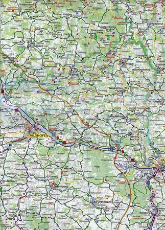 BAWARIA POŁUDNIOWA 1:125 000 mapa turystyczna 3712 KOMPASS (3)