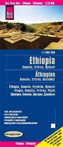 ETIOPIA SOMALIA ERYTREA DŻIBUTI mapa 1:1 800 000 REISE KNOW HOW 2020
