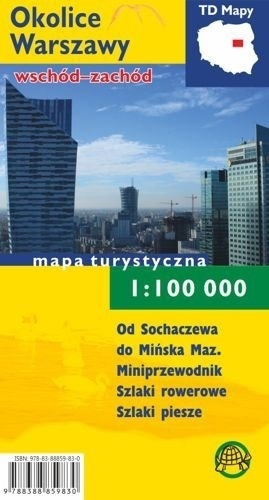 OKOLICE WARSZAWY mapa turystyczna 1:100 000 TD