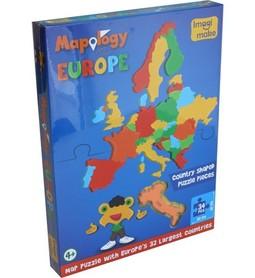 EUROPA PUZZLE Z PIANKI 32 ELEMENTY IMAGI
