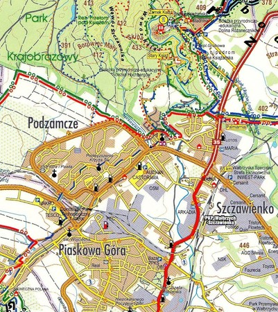 KSIĘSTWO ŚWIDNICKO JAWORSKIE mapa turystyczne STUDIO PLAN (2)