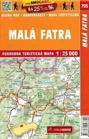MAŁA FATRA mapa turystyczna 1:25 000 SHOCART 2020