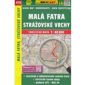 MAŁA FATRA Strazovske Vrchy mapa turystyczna 1:40 000 SHOCART