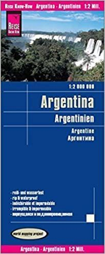ARGENTYNA 10 mapa wodoodporna 1:2 000 000 REISE KNOW HOW 2018
