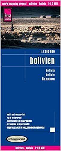 BOLIWIA mapa wodoodporna  1:1 300 000 REISE KNOW HOW