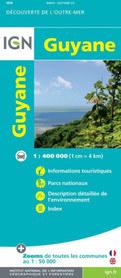 GUJANA / GUJANA FRANCUSKA mapa 1:400 000 IGN