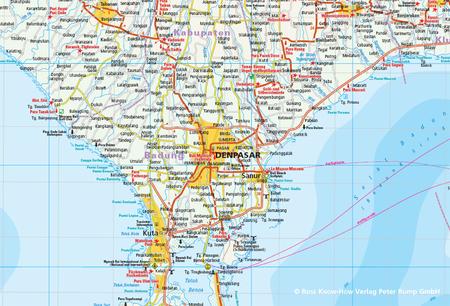 INDONEZJA CZ. 5 - BALI LOMBOK KOMODO mapa 1:150 000 REISE KNOW HOW 2019 (2)