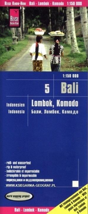 INDONEZJA CZ. 5 - BALI LOMBOK KOMODO mapa 1:150 000 REISE KNOW HOW 2019 (1)
