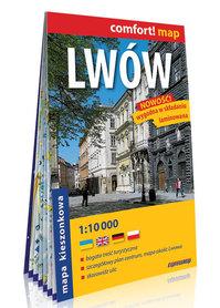LWÓW kieszonkowy laminowany plan miasta 1:10 000 EXPRESSMAP 2020