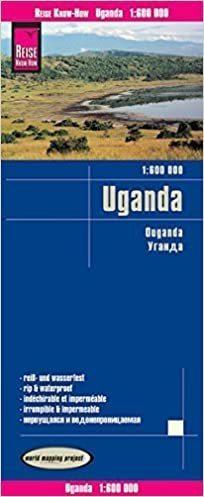 UGANDA mapa 1:600 000 REISE KNOW HOW 2019