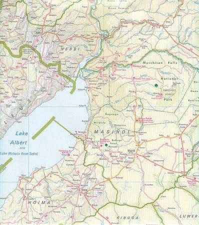 UGANDA mapa wodoodporna 1:700 000 NELLES 2020 (3)