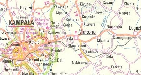UGANDA mapa wodoodporna 1:700 000 NELLES 2020 (4)