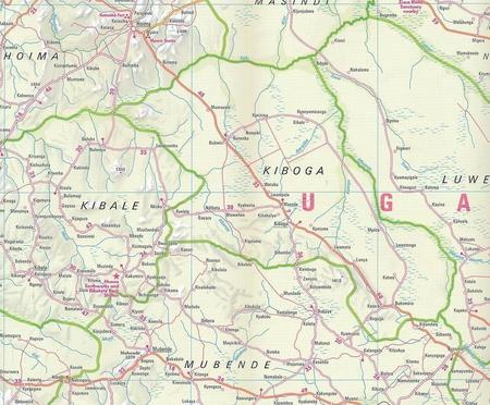 UGANDA mapa wodoodporna 1:700 000 NELLES 2020 (6)