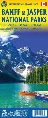 BNFF & JASPER National Parks 1:250 000 / 1:240 000 mapa ITMB 2020