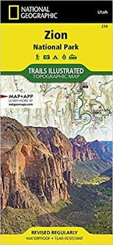 ZION NP mapa wodoodporna NATIONAL GEOGRAPHIC