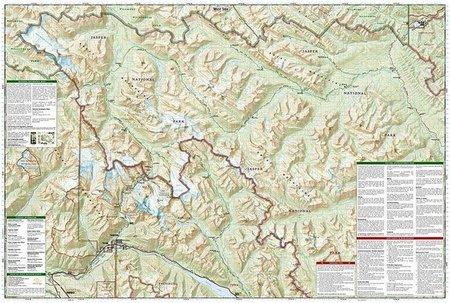 JASPER NORTH, JASPER NP mapa wodoodporna NATIONAL GEOGRAPHIC (3)