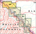 JASPER NORTH, JASPER NP mapa wodoodporna NATIONAL GEOGRAPHIC (4)
