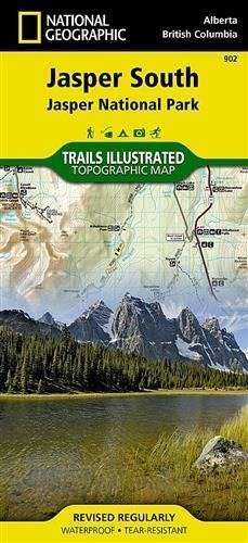 JASPER SOUTH, JASPER NP mapa wodoodporna NATIONAL GEOGRAPHIC