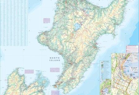 NOWA ZELANDIA WYSPA PÓŁNOCNA 1:660 000 mapa ITMB 2020 (2)